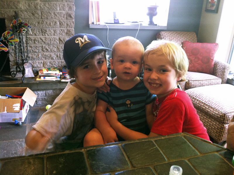 Maceo with his cousins - brothers Wyatt and Levi