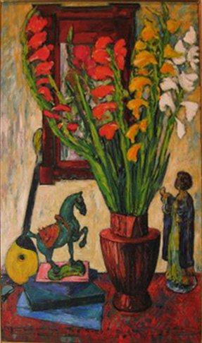 Gladiolas with Tang Horse, 1950