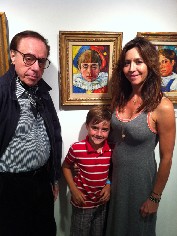 Peter Bogdanovich with Grandson Maceo and daughter Antonia Bogdanovich