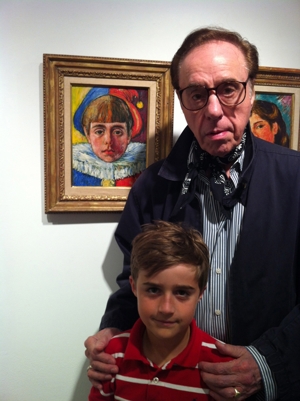 "Peter Bogdanovich with Grandson Maceo by ""Peter Pierrot"""