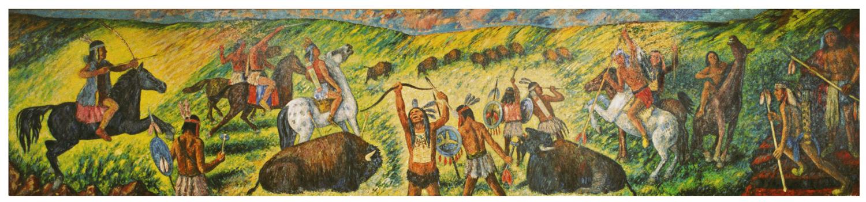 Buffalo Hunt ( 6 x 26 feet )