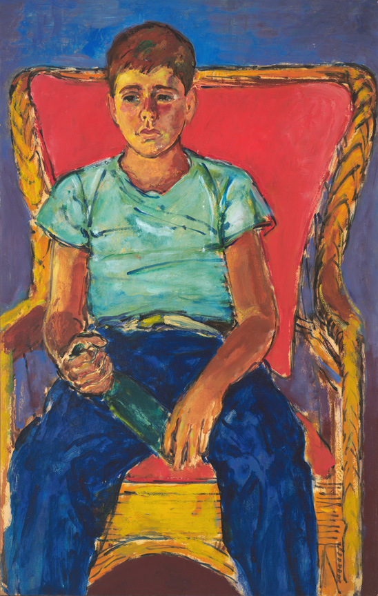 PETER WITH GINGER ALE, 1951, 44 x 28 in.