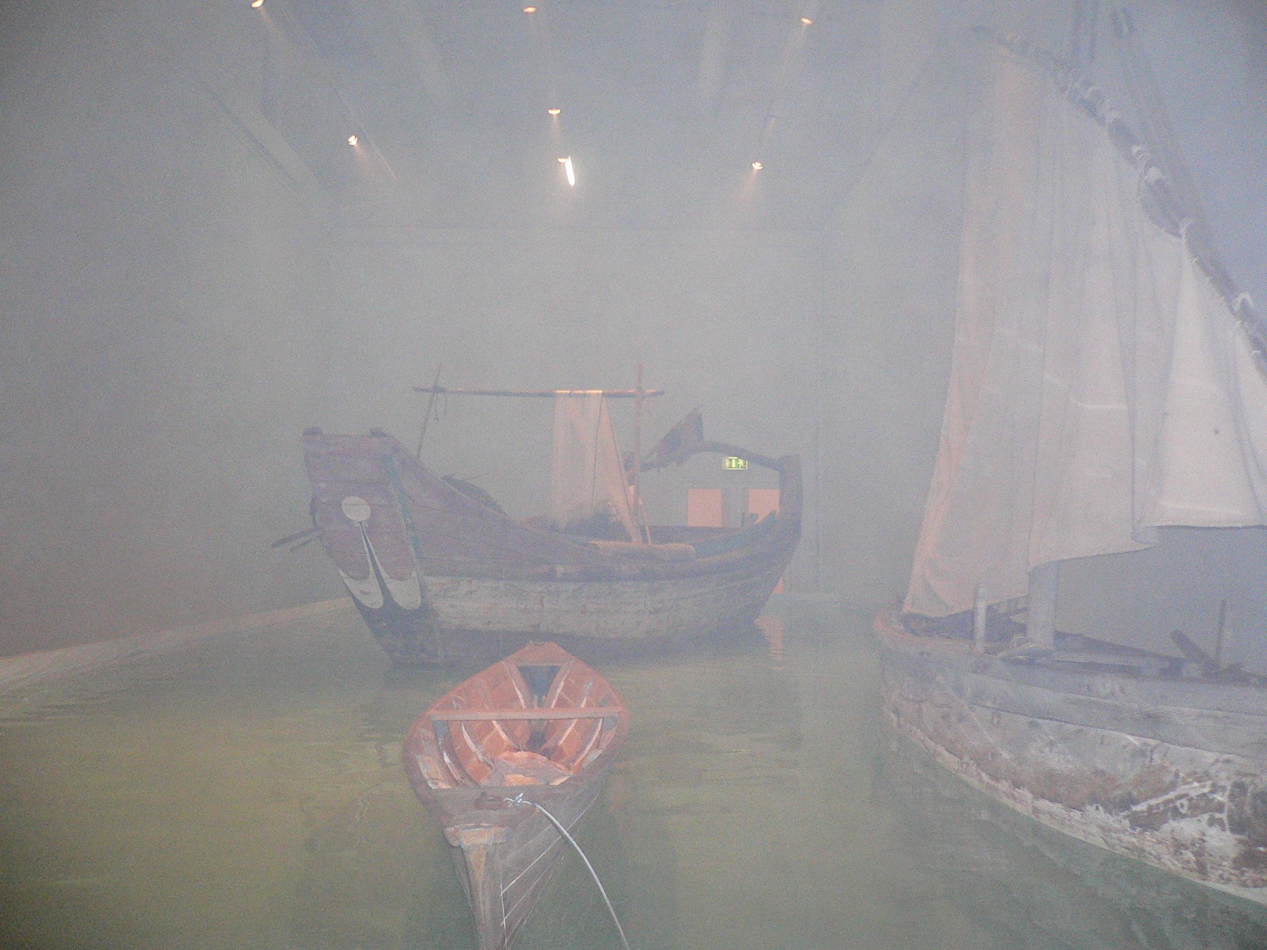 Installation view of Cai Guo-Qiang: Saraab. Mathaf Museum. Doha, Qatar. © Lucy Rees
