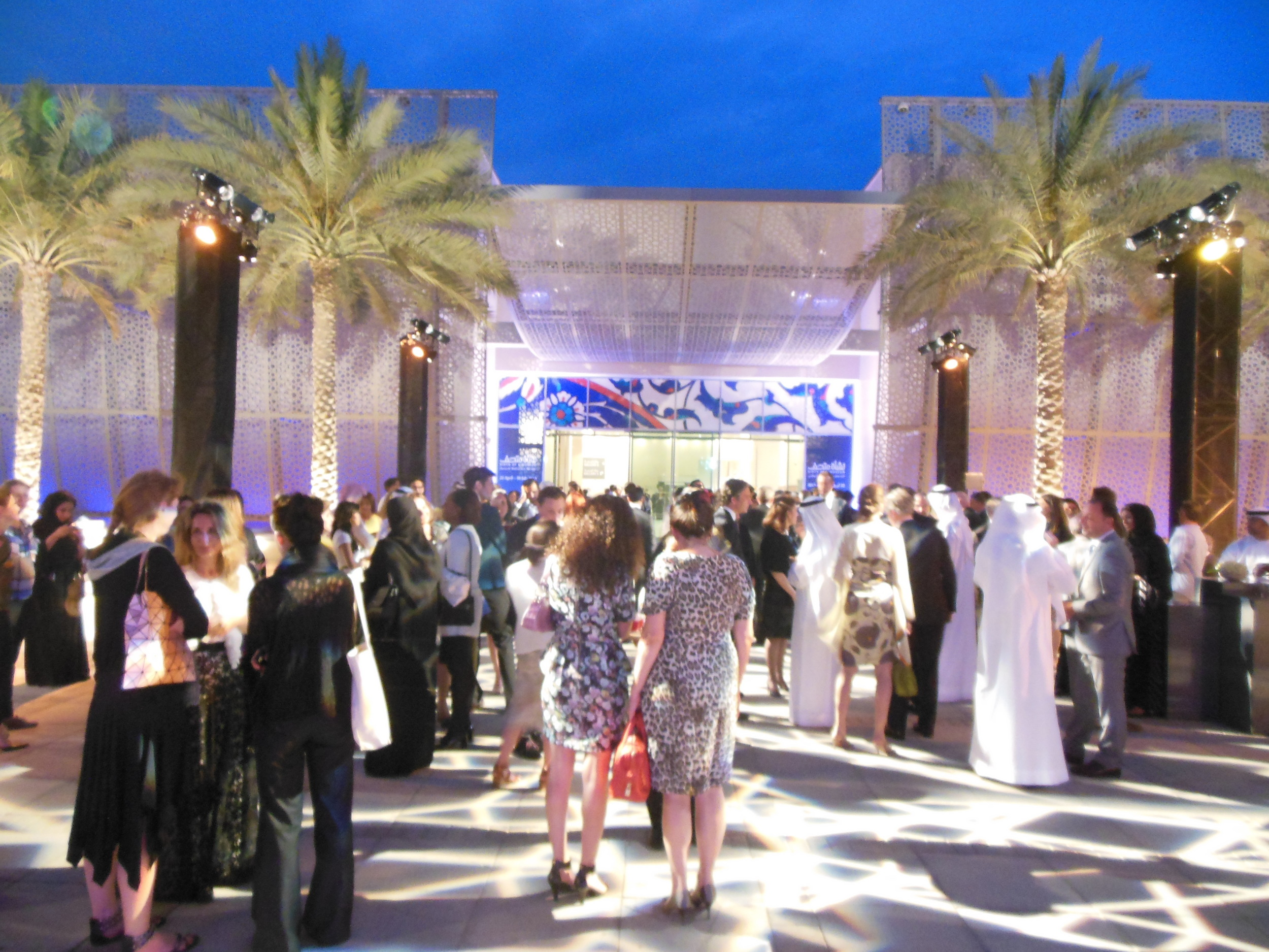 Opening night at the Manarat al Saadiyat exhibition centre. Photo: Lucy Rees