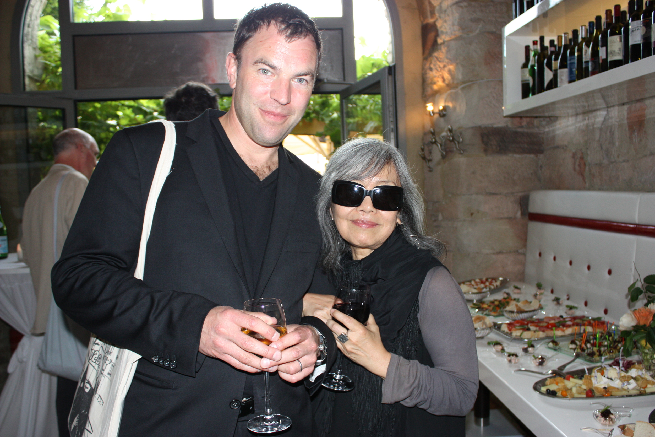 Mathias Ardnt, director of  Ardnt Gallery  in Berlin and Lilly Wei of  Art in America,  New York. Museum of Contemporary Art Sydney cocktail party. Il Convento. Friday June 8.  © Lucy Rees