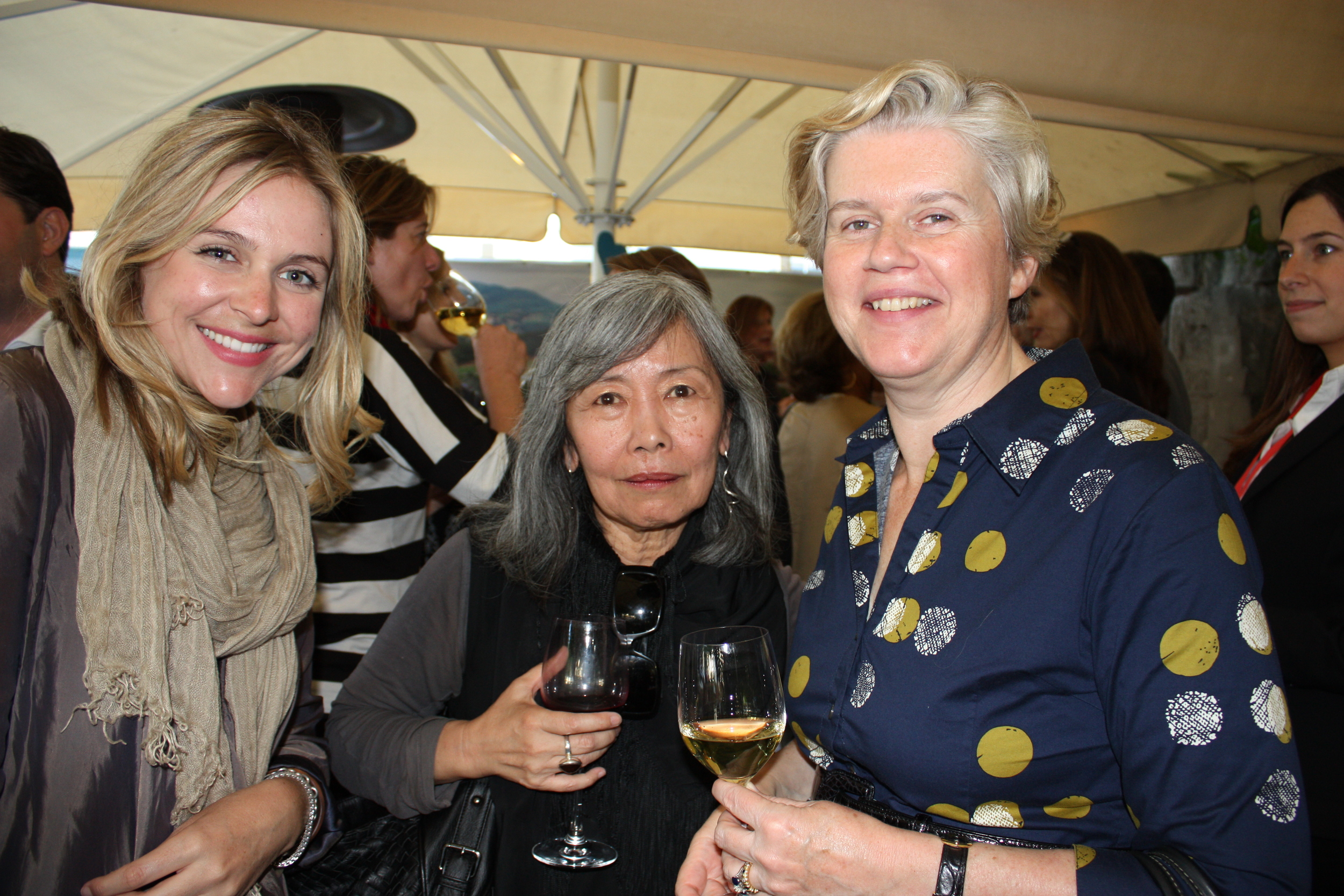 Lucy Rees, Lilly Wei of Art in America, and Ann Strauss, associate curator of Modern and Contemporary Art at the  Metropolitan Museum of Art,  New York. © Lucy Rees