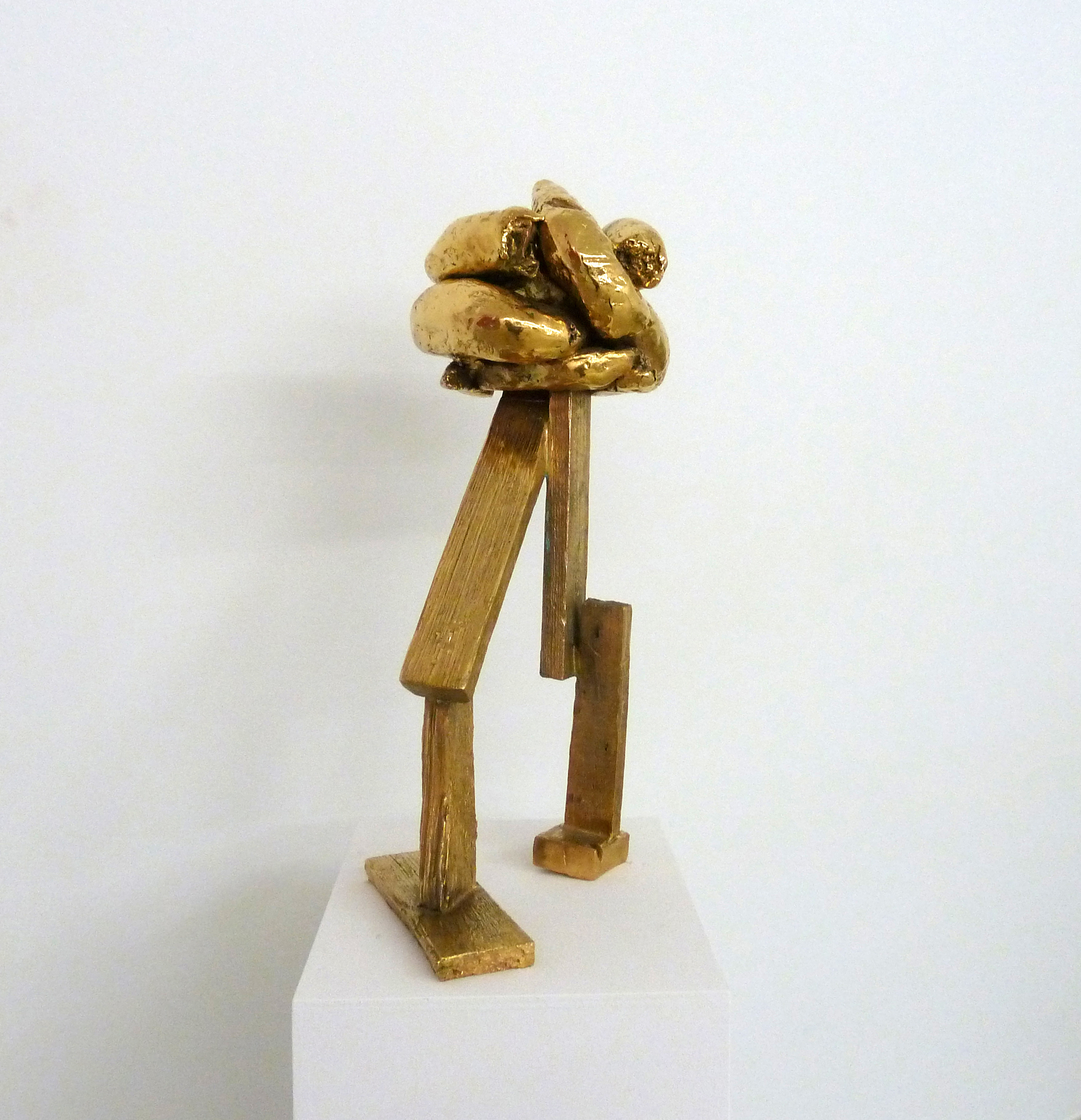 Crap Head, 2010 Bronze, gold-plated 63 x 30 x 35 cm