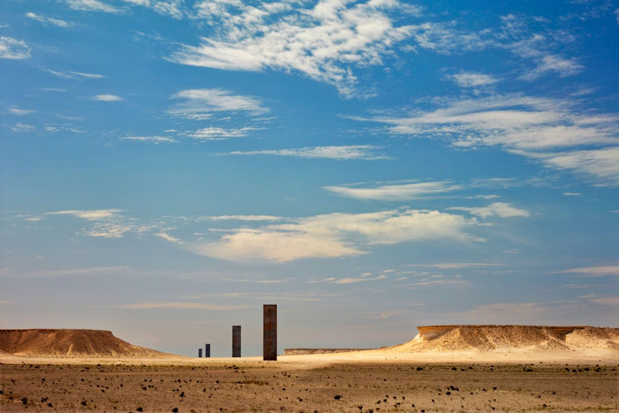 Richard Serra's 'East-West/West-East' in Qatar.