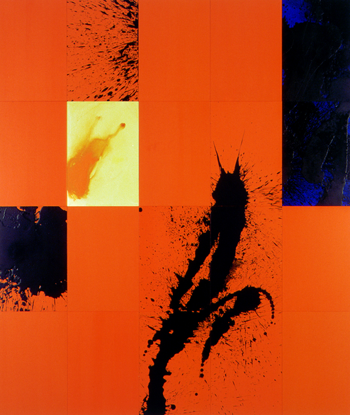 First Principle  , 2001, synthetic polymer paint, oil, wax and ink on board, 20 parts, 41.5 × 29.5 cm each, 166.0 × 147.5 cm overall. Private collection, Sydney. Courtesy the artist, Roslyn Oxley9 Gallery, Sydney, Sutton Gallery, Melbourne, and 10 Chancery Lane Gallery, Hong Kong.
