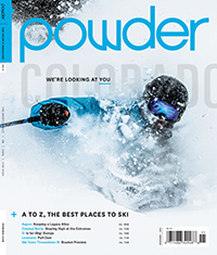 """""""Blind Spot"""" — The best ski area in Colorado? It must just be Loveland, the place you've always driven by. I followed Loveland's hardiest locals around on a powder day last winter.  Powder, Nov. 2014"""