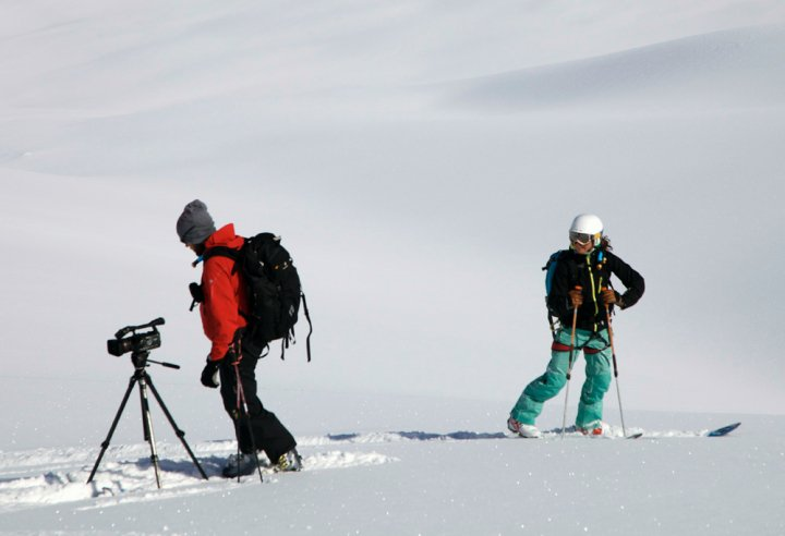Jonah Howell and me filming in Alaska in 2010.