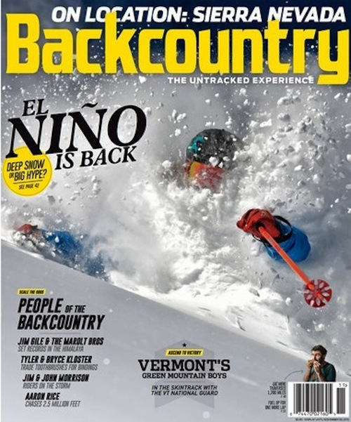 """""""Lost and Found"""" - How one family found home off the grid in the Sierra. A profile of the Lost Trail Lodge and the family that runs the place.  Backcountry magazine, December 2015"""