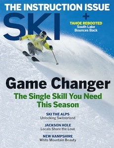 """""""Skiing on the Side"""" - How South Lake Tahoe is transforming from a has-been gambling hub to a 24-hour mountain town that just wants to have fun.  Ski Magazine, January 2016"""