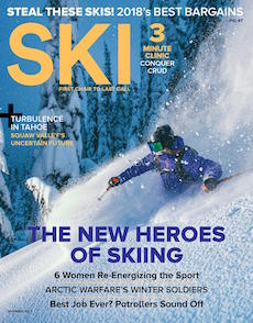 """""""Arrested Development"""" — Squaw Valley is in the midst of a massive overhaul, and the community is sharply divided.  Ski Magazine, November 2017"""