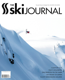 """""""His Best Friend's Camera"""" — Elliott Bernhagen was on his way to becoming a pro snowboarder when suddenly, his friend, ski photographer Patrick Orton, died. Bernhagen almost quit it all but then he inherited his late friend's camera—and that changed everything.  Ski Journal, December 2018"""