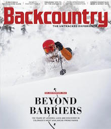 """""""No Fall Terrain"""" — After a skier drops into his favorite line near Lake Tahoe, California, things go terribly wrong.  Backcountry Magazine, March '19"""
