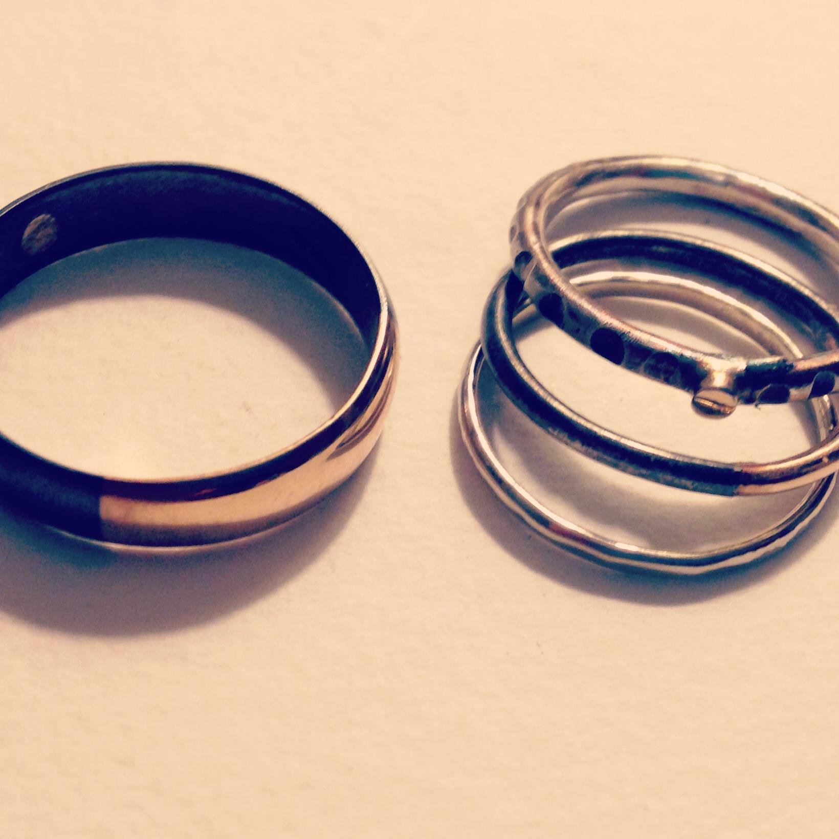 carla + nirav's rings