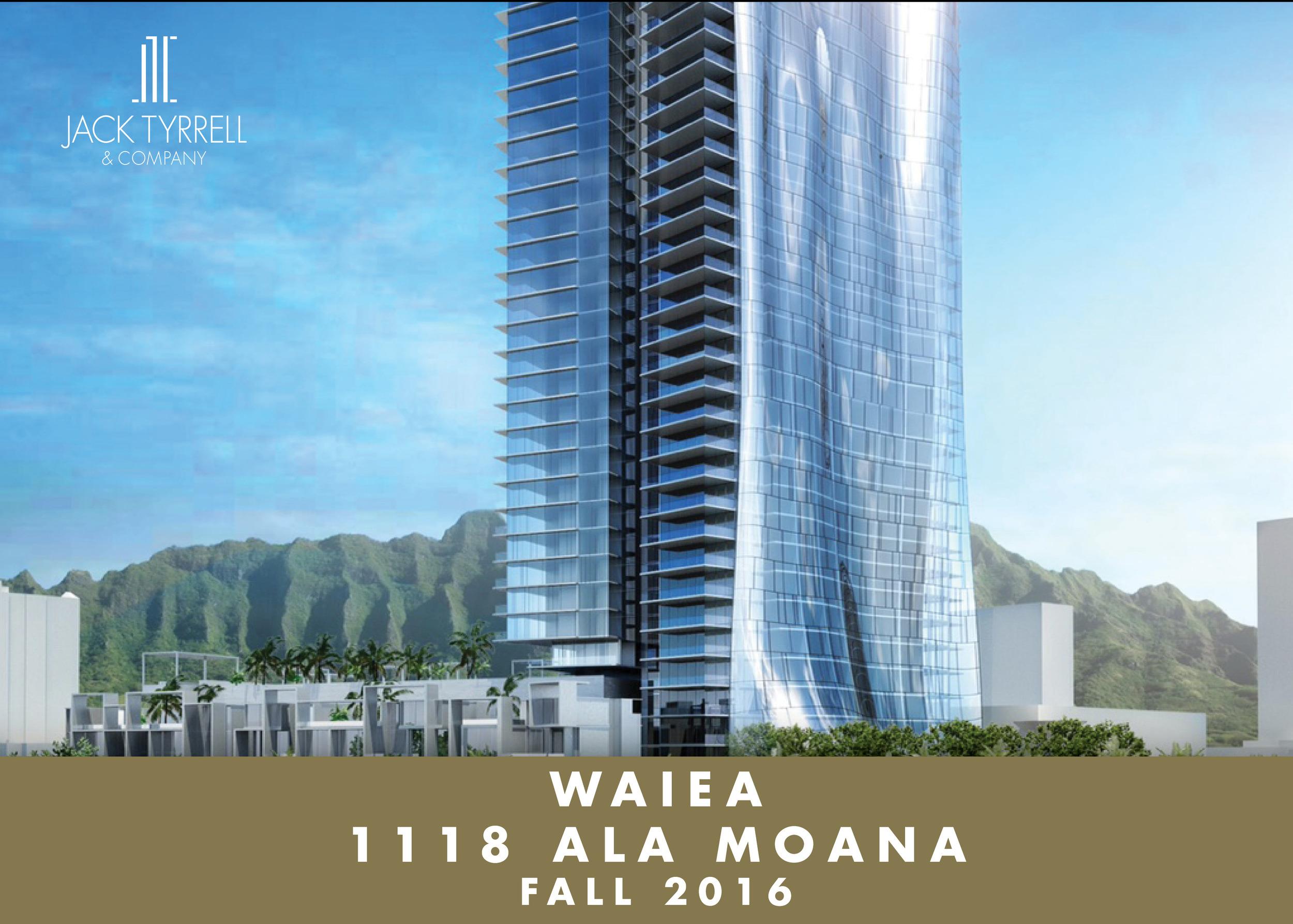 Howard Hughes new project Waiea - Est. Fall 2016