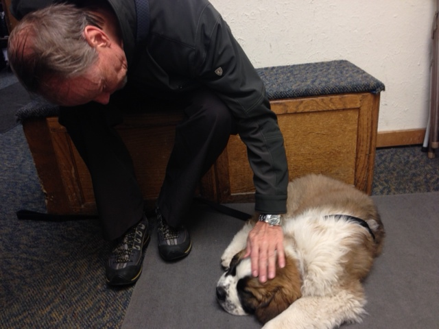 Jack with Miles - Vail, Colorado 4/2014