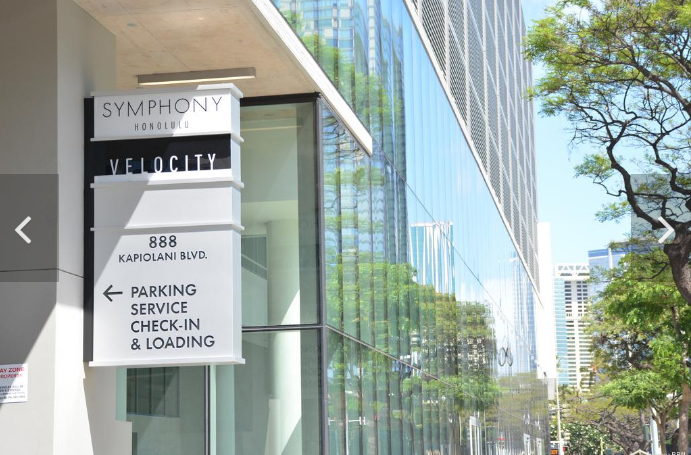 Screenshot of the entrance to Velocity at the Symphony Honolulu, Pacific Business News