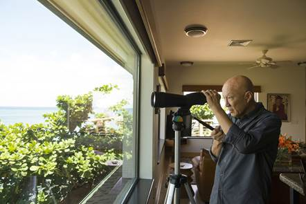 Jack Tyrrell and Company, Inc. client and friend, Dr. Thomas Yue in his home on Oahu's North Shore.