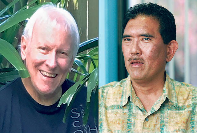 Photo:  Honolulu Star-Advertiser   Gov. David Ige has not chosen new members to fill the seats of Steve Scott, left, and Jason Okuhama, two of the nine board members of the Hawaii Community Development Authority.