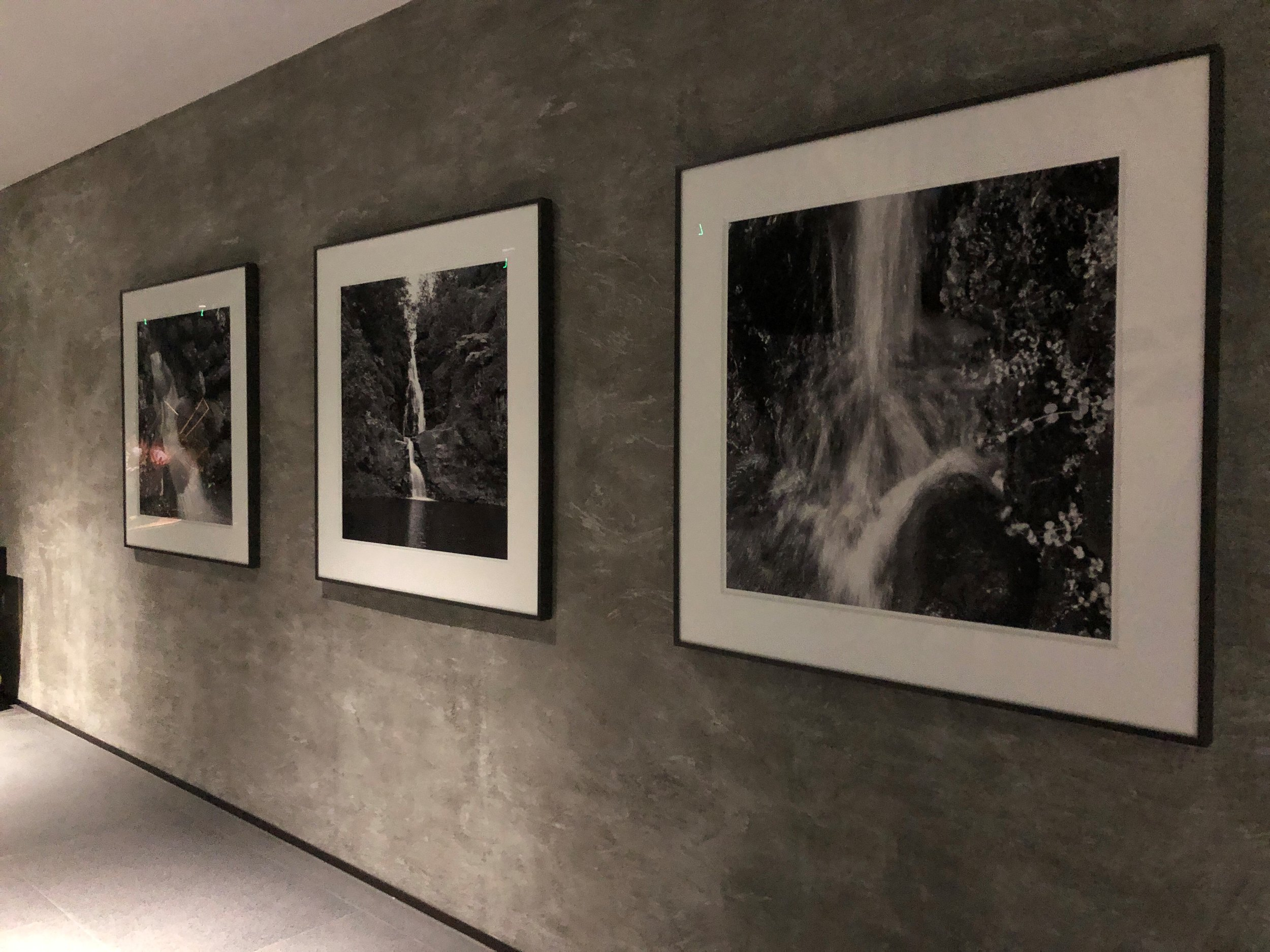 Art by local photographer Franco Salmoiraghi displayed in the elevator foyer at Waiea.