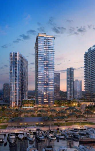 Photo: The Howard Hughes Corporation. This rending shows The Howard Hughes Corp.'s Victoria Place project, a 350-unit condominium planned for a site along Ala Moana Boulevard in Honolulu, part of the developer's 60-acre Ward Village.