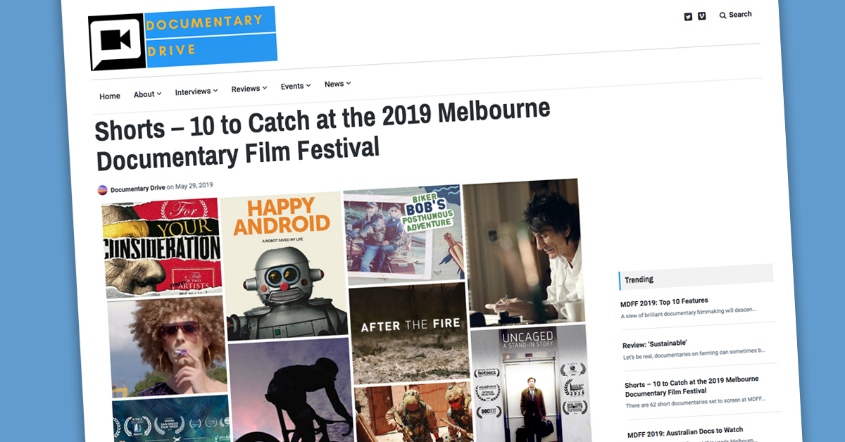 "- ""10 must-watch docs at MDFF 2019""Documentary Drive"