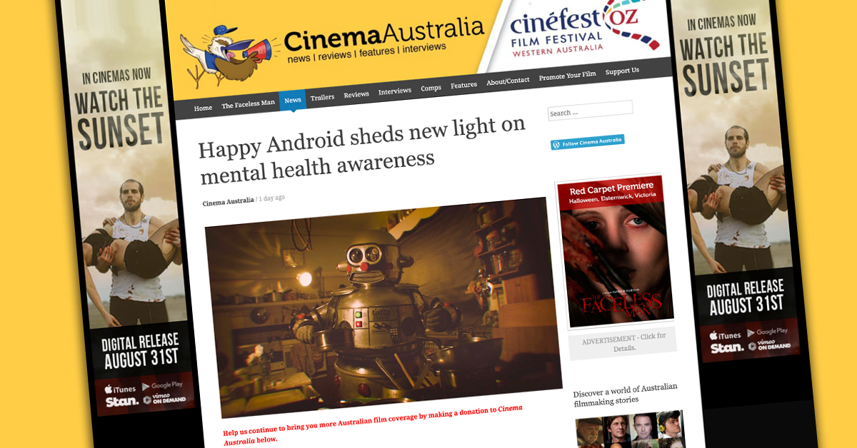 "- ""Happy Android, the award-winning documentary from Brisbane filmmaker Jaina Kalifa, will screen on ABC TV's Compass program on Sunday, September 8.""Cinema Australia"