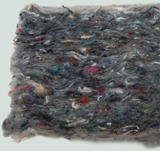insulation made from textile waste and bico LMF polyester fiber