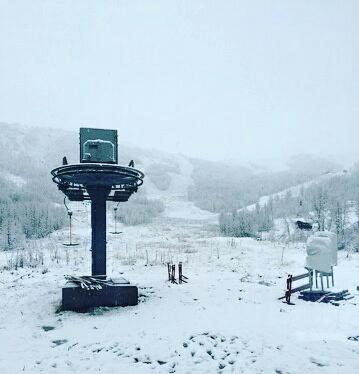 fyrste snøen i rindabotn!! Velkomen😀