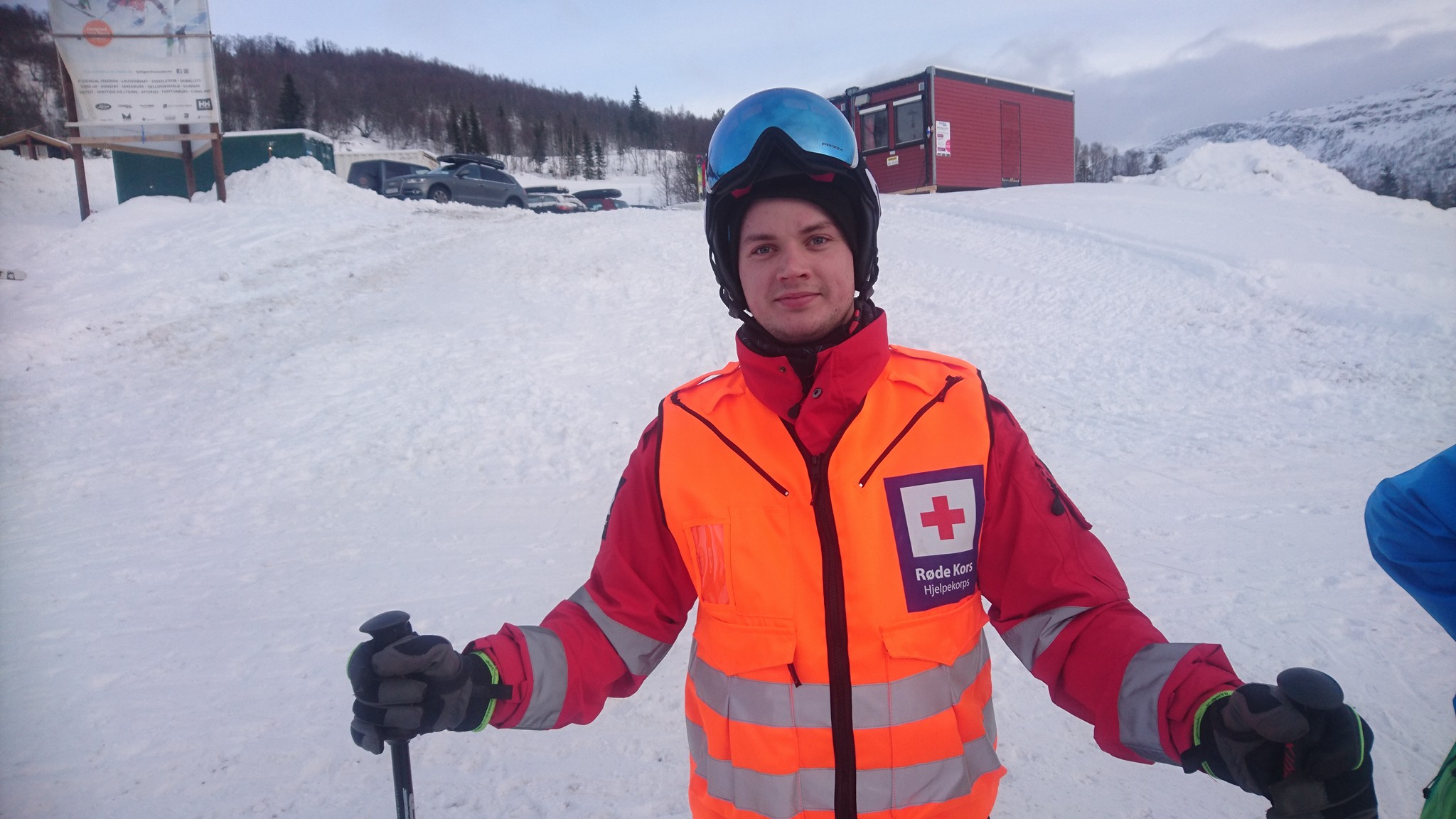 Fredrik Stokkanes på vakt for Sogndal Røde Kors 7. Januar 2017