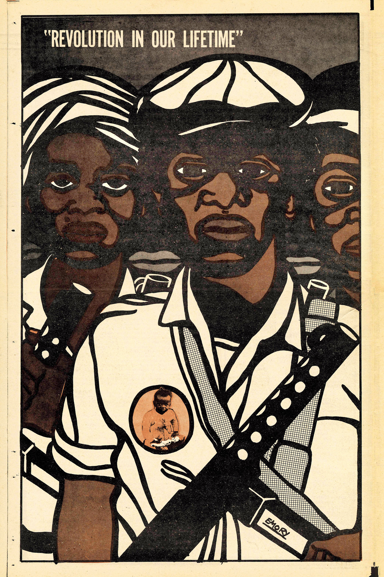 """Revolution in our Lifetime"" Emory Douglas, 1969."