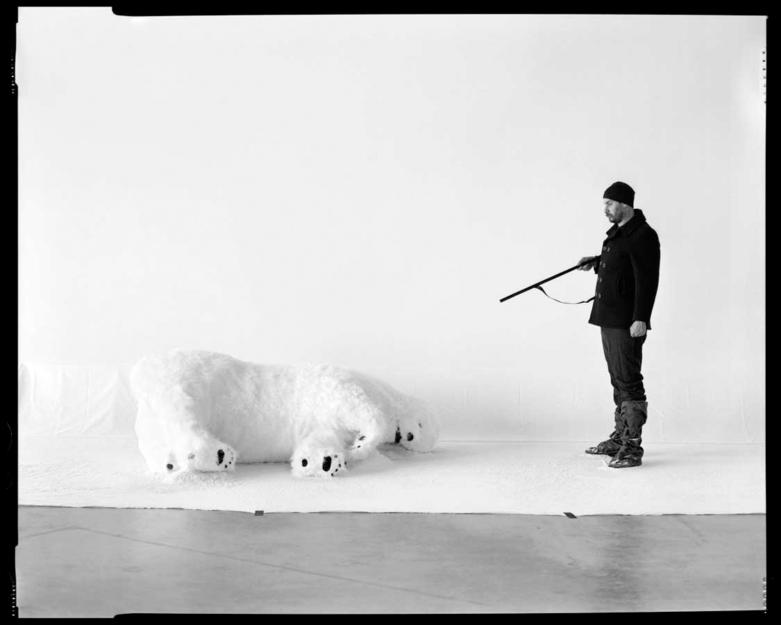 Recreation of Andree's First Polar Bear