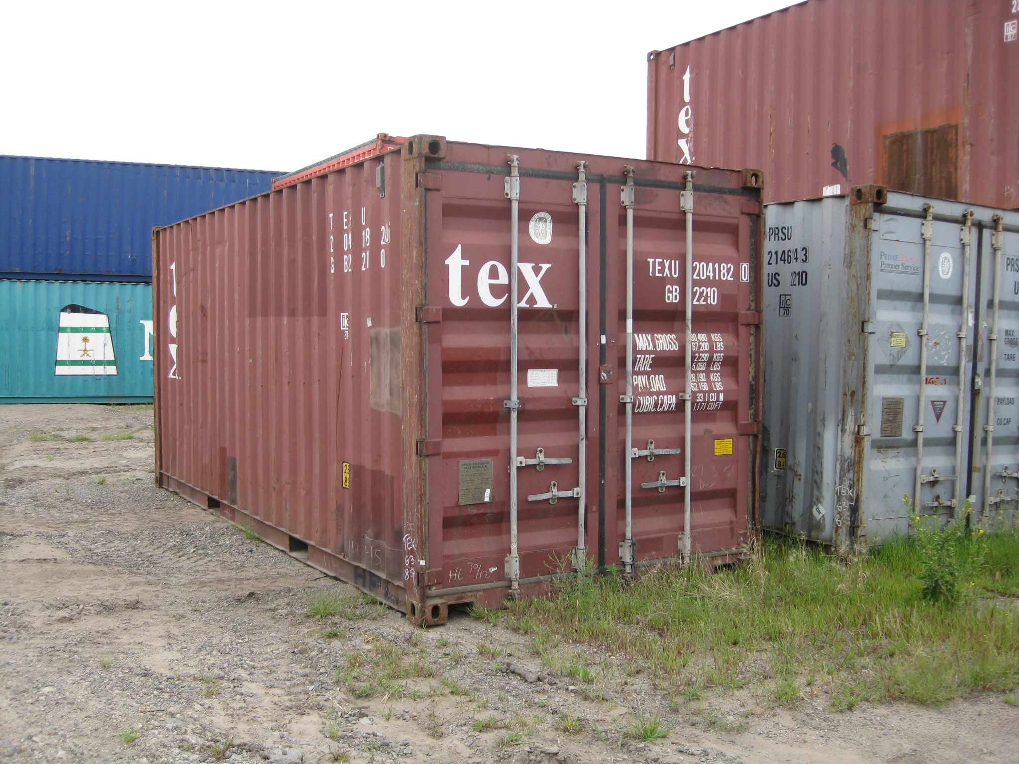Brown wind and watertight 20' container