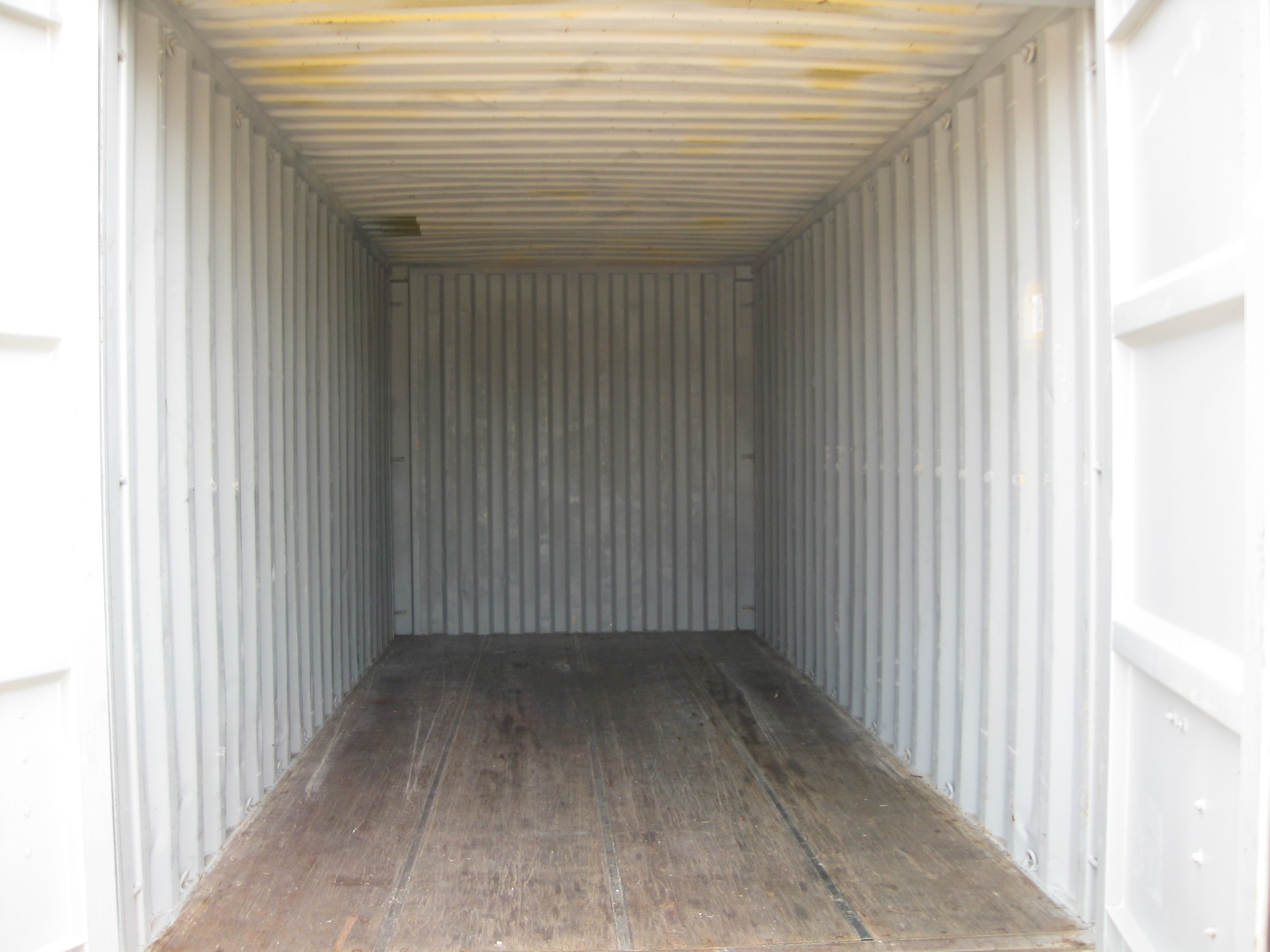 Inside used 20' container