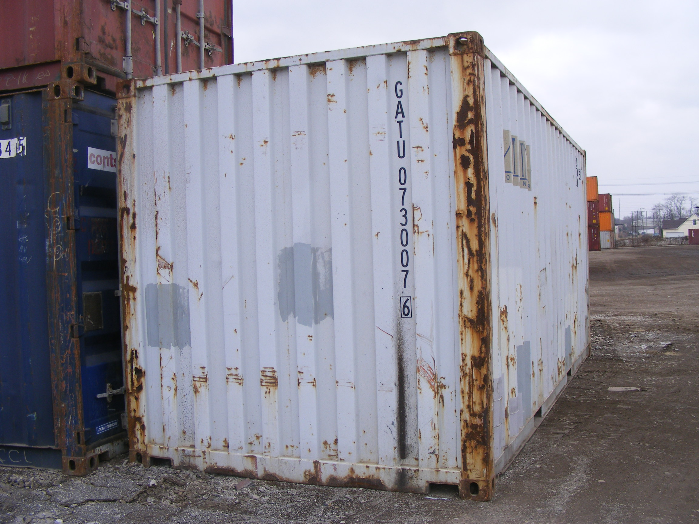 Used Gray 20' container