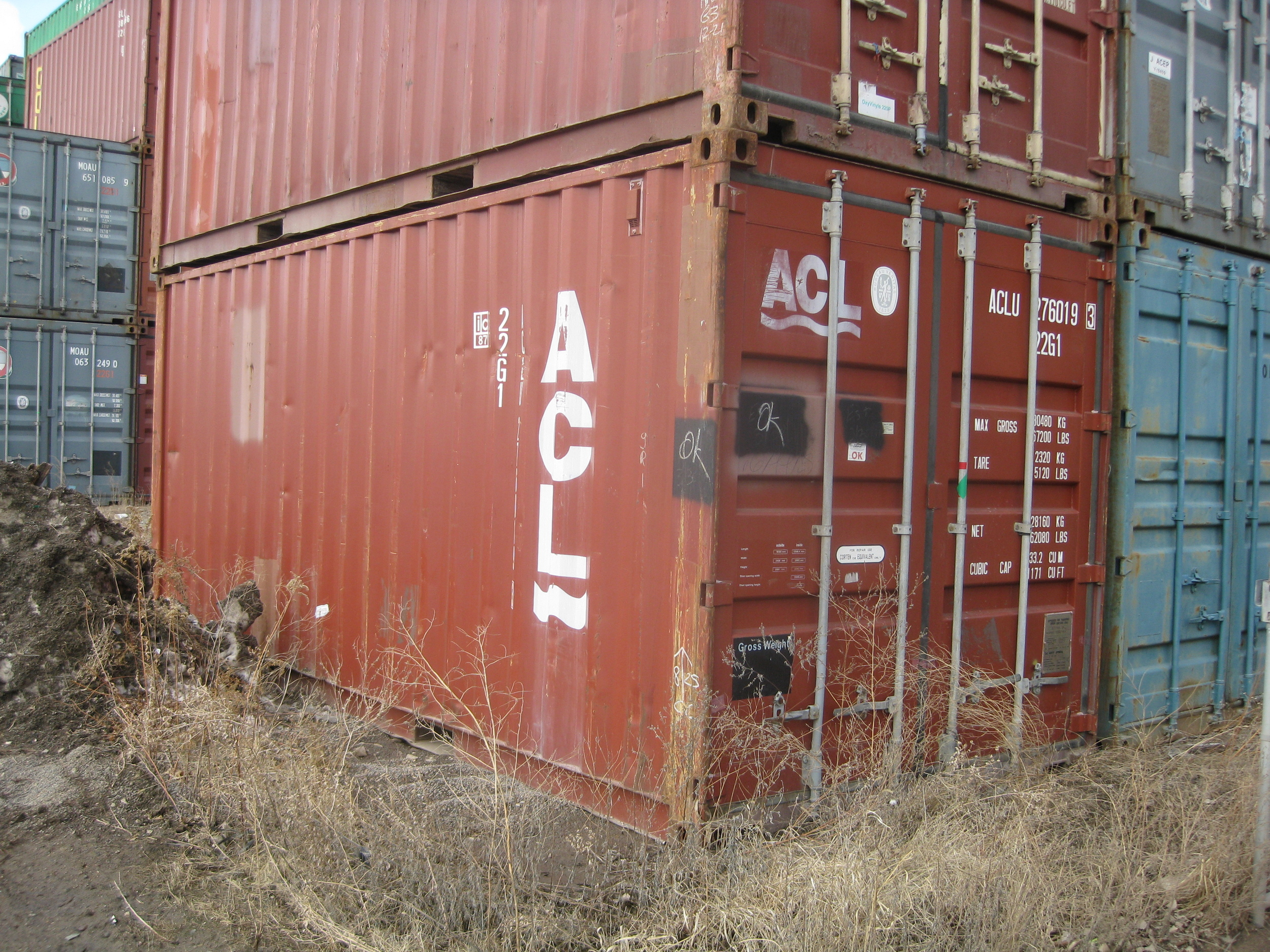 Used brown 20' container