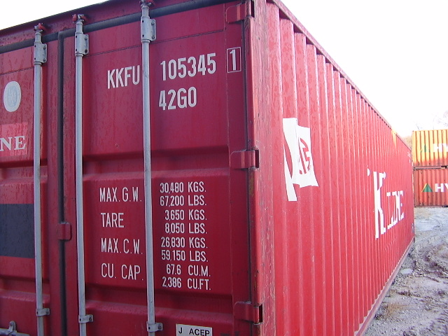 Red 40' container