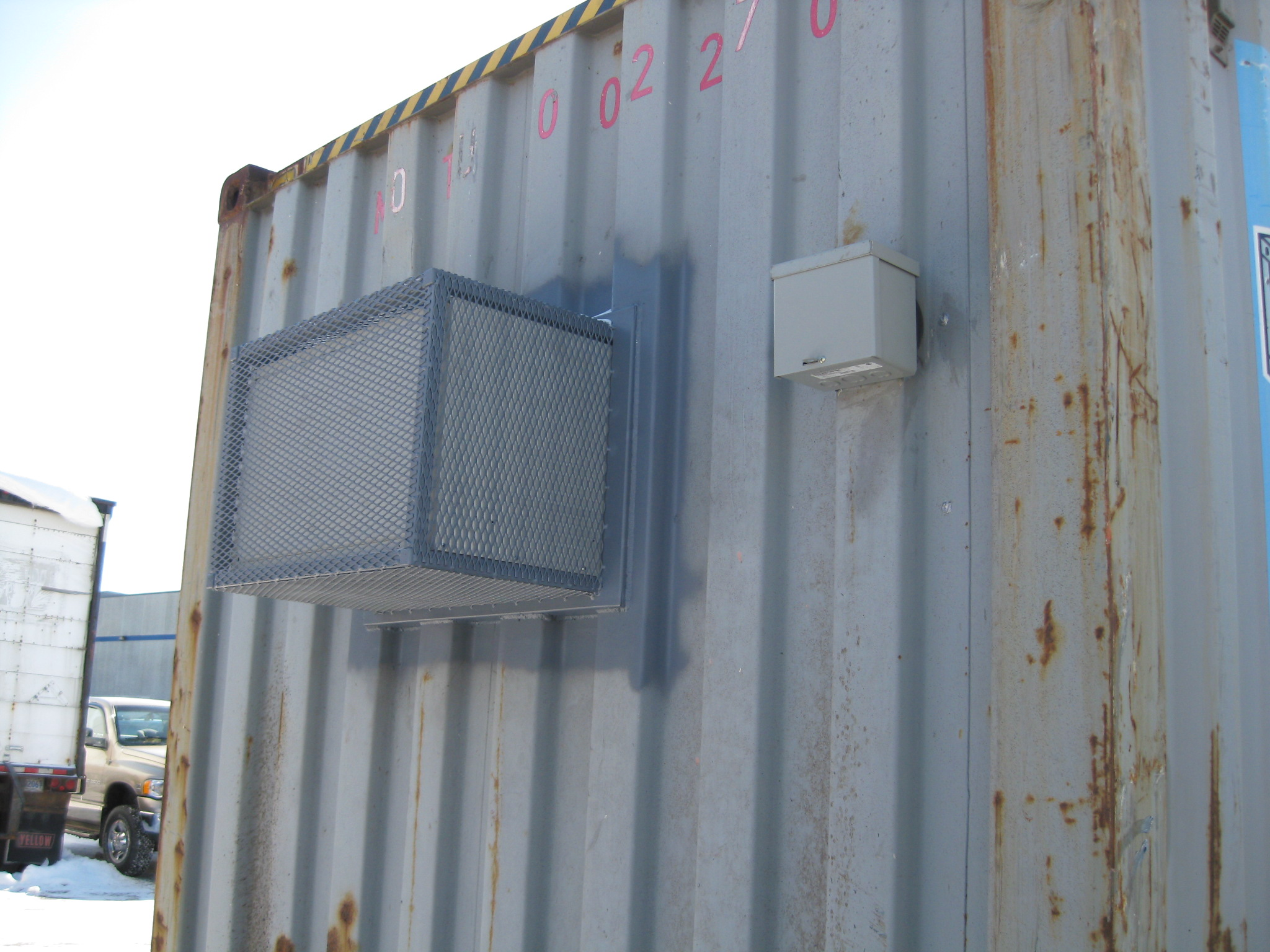 HVAC kit installed on used container