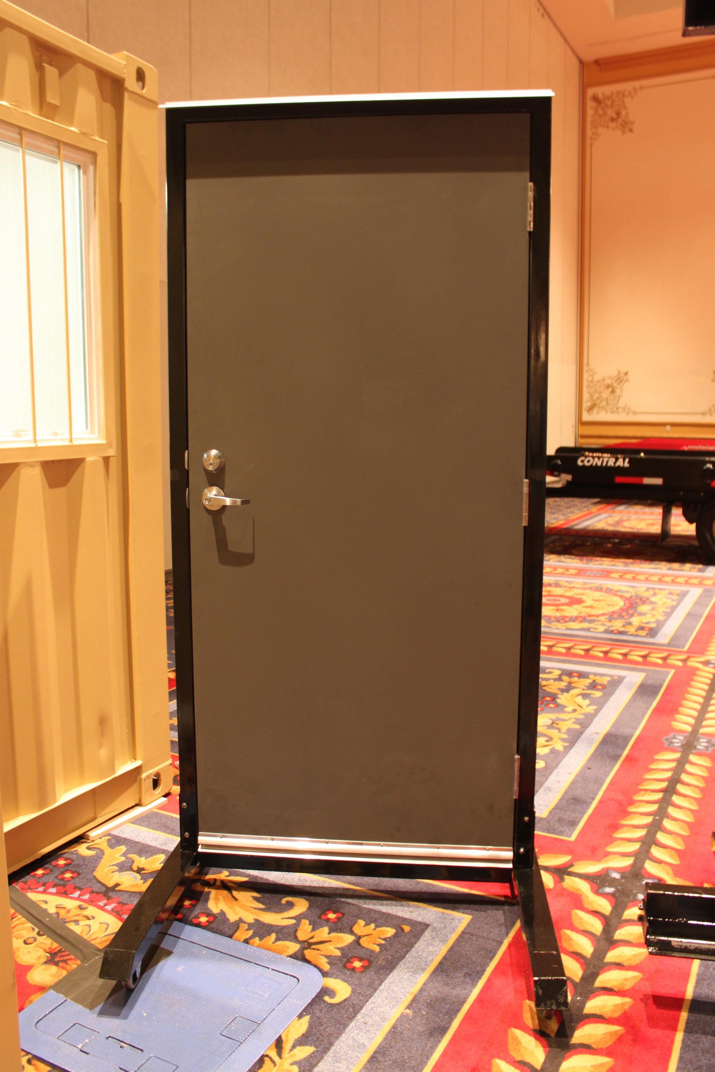 Inside view of man-door kit