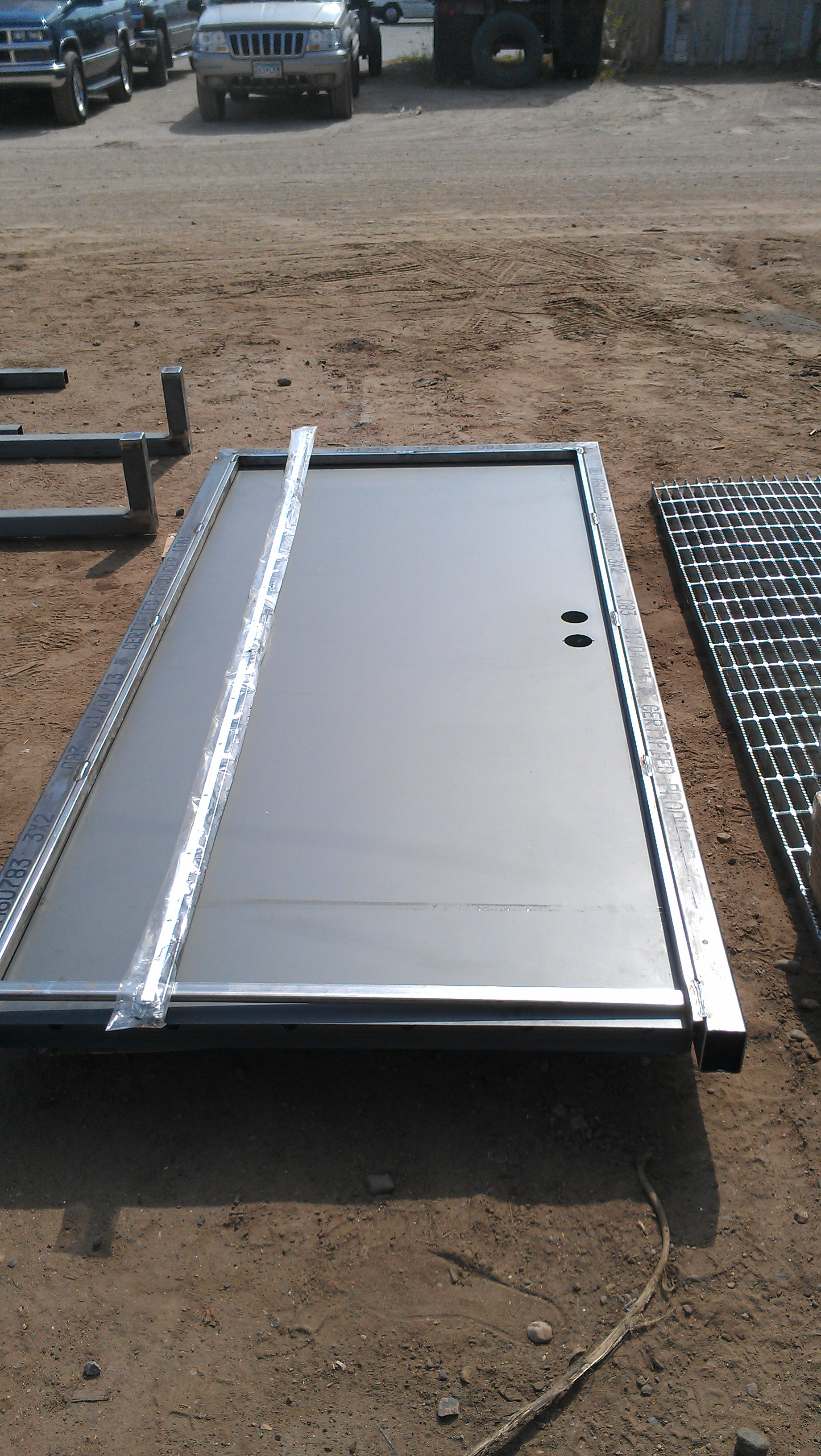 Man-door kit before installation