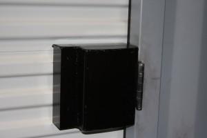 Roll-up door with lockbox