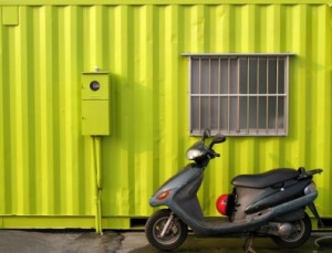 Bright Green Container House