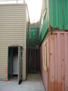 Fire training containers