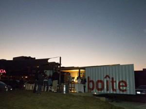 La Boite cafe at sunset