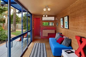 Inside guest house container