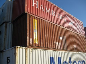 Used 40' and 40' high cube containers