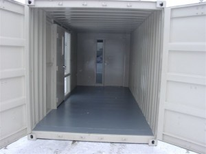 Split containers into multiple offices or office and storage space
